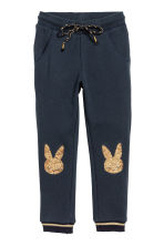 Sweatpants - Dark blue/Rabbits - Kids | H&M CN 2