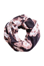 Patterned tube scarf - Dark blue/Floral -  | H&M CN 1