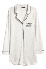 Jersey nightshirt - Light grey marl - Ladies | H&M IE 1