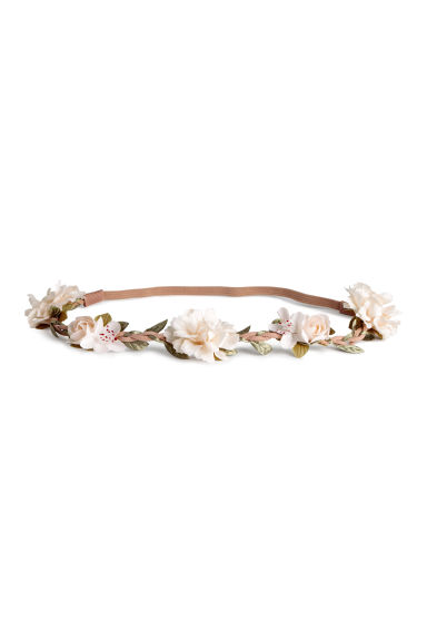 Hairband with flowers - Natural white - Ladies | H&M CA 1