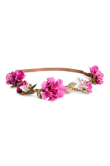 Hairband with flowers - Pink/White -  | H&M CN 1
