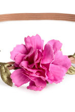 Hairband with flowers - Pink/White -  | H&M CN 2