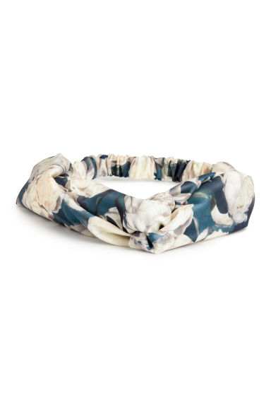 Satin hairband - Turquoise/Floral -  | H&M CA 1