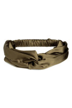 Satin hairband - Khaki green - Ladies | H&M CA 1