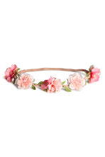Hairband with flowers - Pink - Ladies | H&M 1
