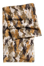 Airy scarf - Khaki green/Patterned - Ladies | H&M 2