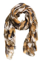 Airy scarf - Khaki green/Patterned - Ladies | H&M 1