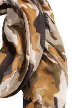 Airy scarf - Khaki green/Patterned - Ladies | H&M 3