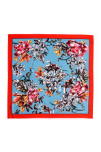 Woven scarf - Bright red/Floral - Ladies | H&M 2