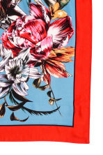 Woven scarf - Bright red/Floral - Ladies | H&M 3
