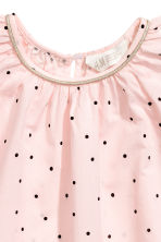 Frill-sleeved cotton blouse - Light pink/Spotted - Kids | H&M CN 3