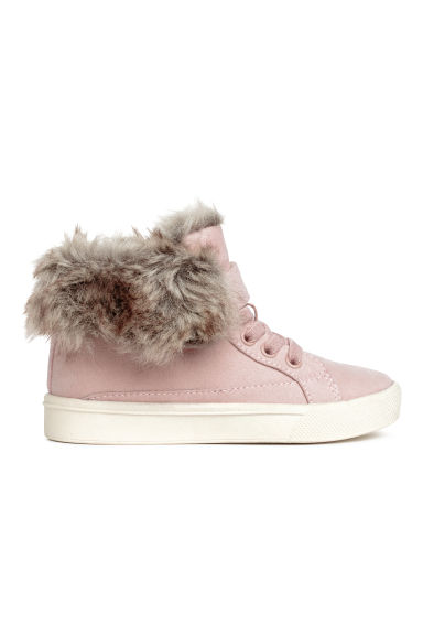 Warm-lined hi-tops - Light pink -  | H&M CN