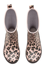 Patterned wellingtons - Light pink/Leopard print - Kids | H&M CN 2