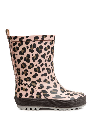 Patterned wellingtons - Light pink/Leopard print - Kids | H&M CN 1