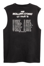 Vest top with a print motif - Black/Rolling Stones - Men | H&M CA 3