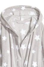 Fleece dressing gown - Light grey/Stars - Ladies | H&M 3