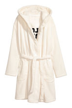 Fleece dressing gown - White/Pillow Fight - Ladies | H&M 2