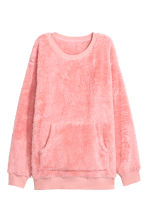 Fleece sweatshirt - Pink - Ladies | H&M CN 1