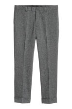 Suit trousers Slim fit - Black marl - Men | H&M CN 2