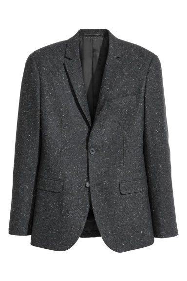 Nepped jacket Slim fit - Dark grey/Nepped - Men | H&M