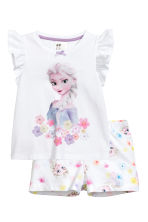 Jersey pyjamas - White/Frozen - Kids | H&M CN 1