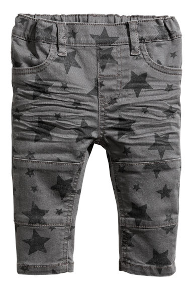 Twill treggings - Grey/Stars - Kids | H&M CN