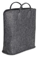 Felt storage basket - Anthracite grey - Home All | H&M 2