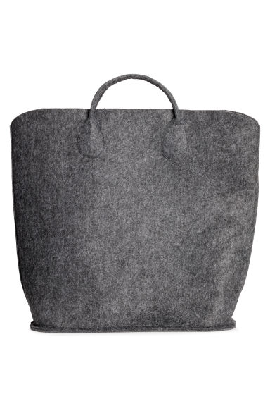 Felt storage basket - Anthracite grey - Home All | H&M CN