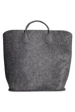 Felt storage basket - Anthracite grey - Home All | H&M 1