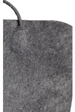 Felt storage basket - Anthracite grey - Home All | H&M 3