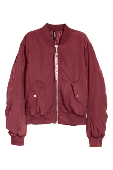 Bomber jacket - Burgundy -  | H&M