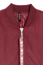Bomber jacket - Burgundy - Ladies | H&M 2