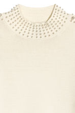 Beaded jumper - Natural white - Ladies | H&M 3
