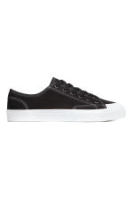 Cotton canvas trainers - Black - Men | H&M 1