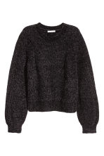 Textured-knit jumper - Black - Ladies | H&M 2