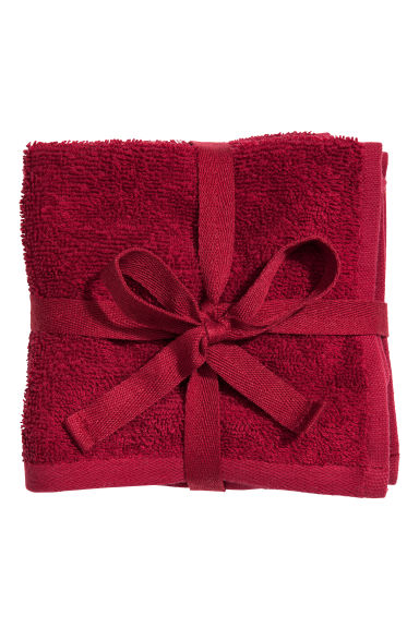 3 serviettes de toilette - Rouge foncé - Home All | H&M CA 1