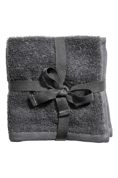 3 serviettes de toilette - Gris anthracite - Home All | H&M CA