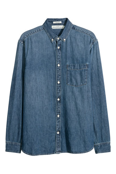 Denim shirt - Denim blue - Men | H&M CN