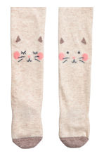 2-pack tights - Mole/Cat -  | H&M 2