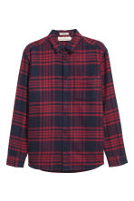 Camicia flanella Regular fit - Rosso/quadri - UOMO | H&M IT 2