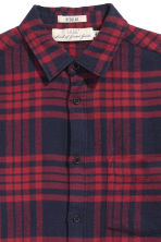 Camicia flanella Regular fit - Rosso/quadri - UOMO | H&M IT 3