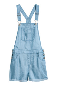 Lyocell dungaree shorts
