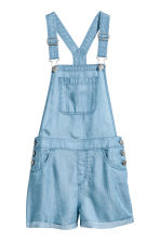 Lyocell dungaree shorts - Blue - Kids | H&M CN 2