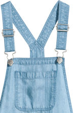 Lyocell dungaree shorts - Blue - Kids | H&M CN 4