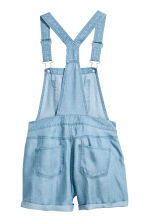 Lyocell dungaree shorts - Blue - Kids | H&M CN 3