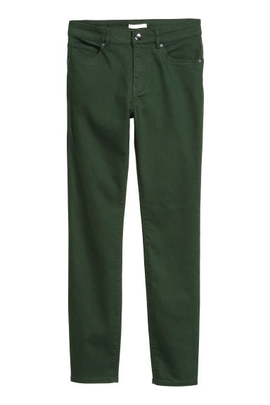 Superstretch trousers - Dark green - Ladies | H&M