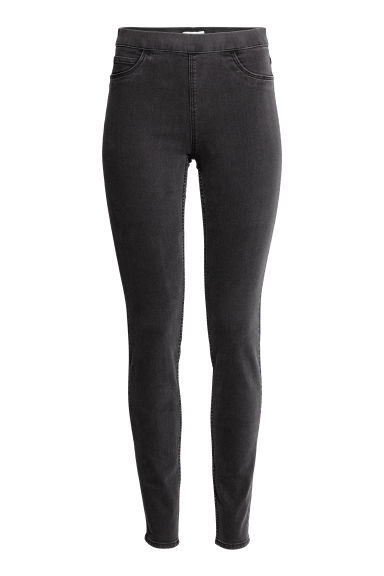 Superstretch treggings - Nearly black -  | H&M