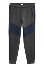 Sports trousers - Dark grey marl/Dark blue - Men | H&M CN 2