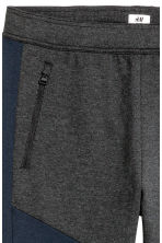 Sports trousers - Dark grey marl/Dark blue - Men | H&M CN 4