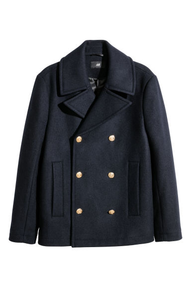 Wool-blend pea coat Model